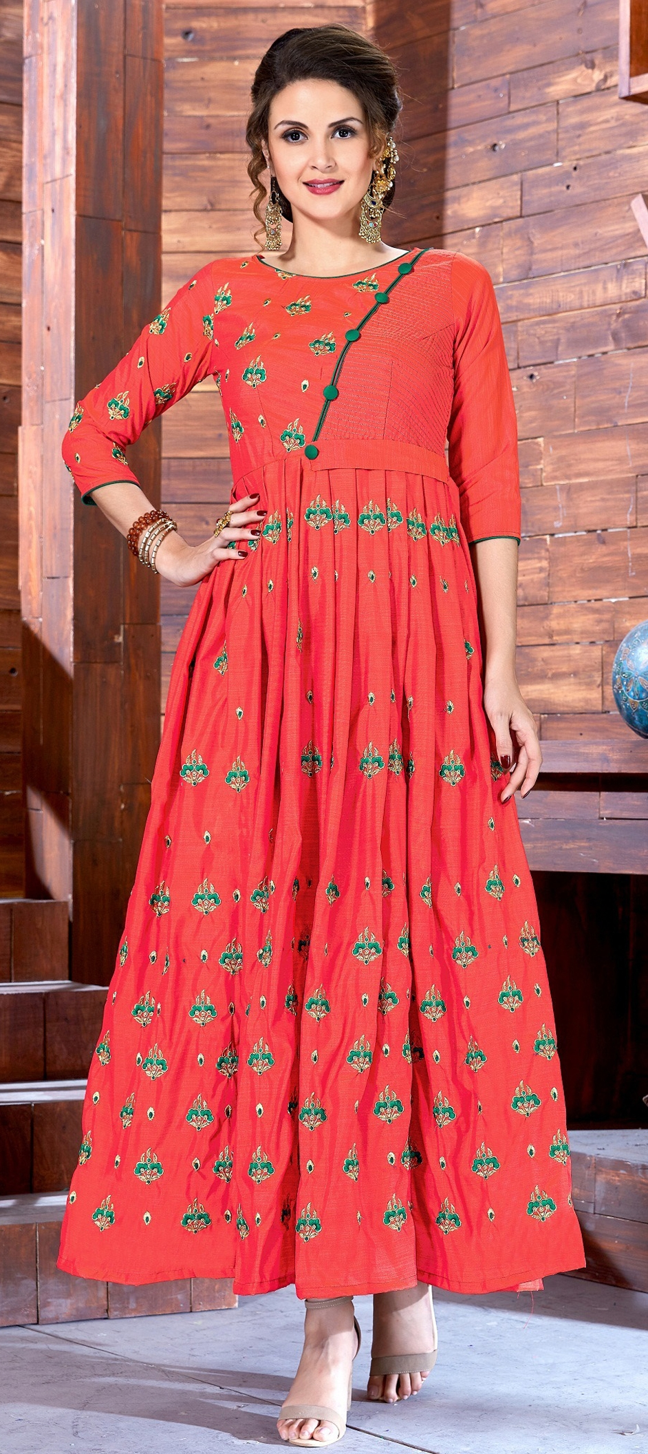buy latest embroidered kurtis