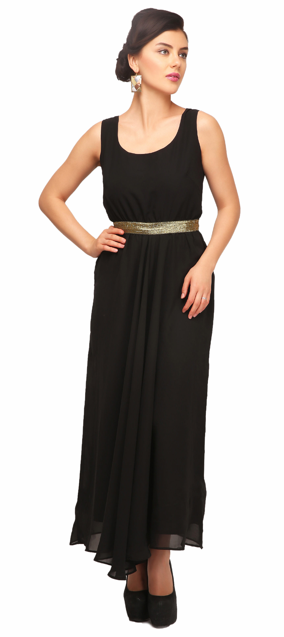 Belted Design Gown