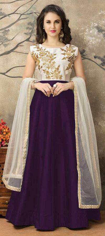 492326: Purple and Violet,White and Off White color family stitched ...
