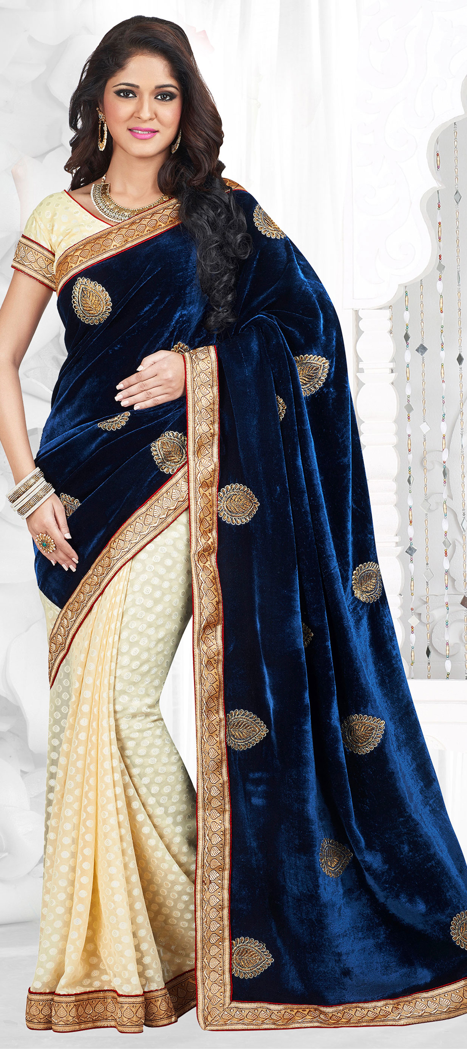 d44a6de5631b68 Purple Velvet Blouse Designs | Splendid Wedding Company