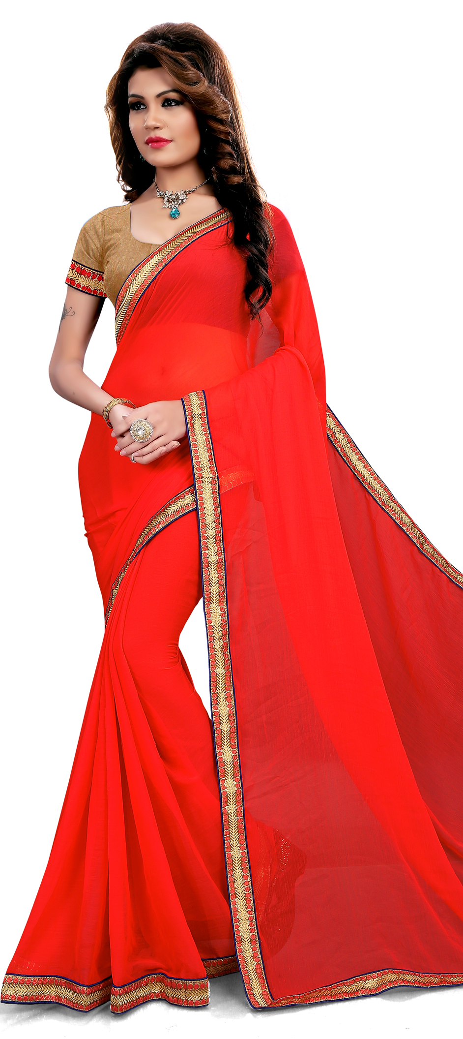 731154: Red and Maroon color family Embroidered Sarees, Party Wear ...