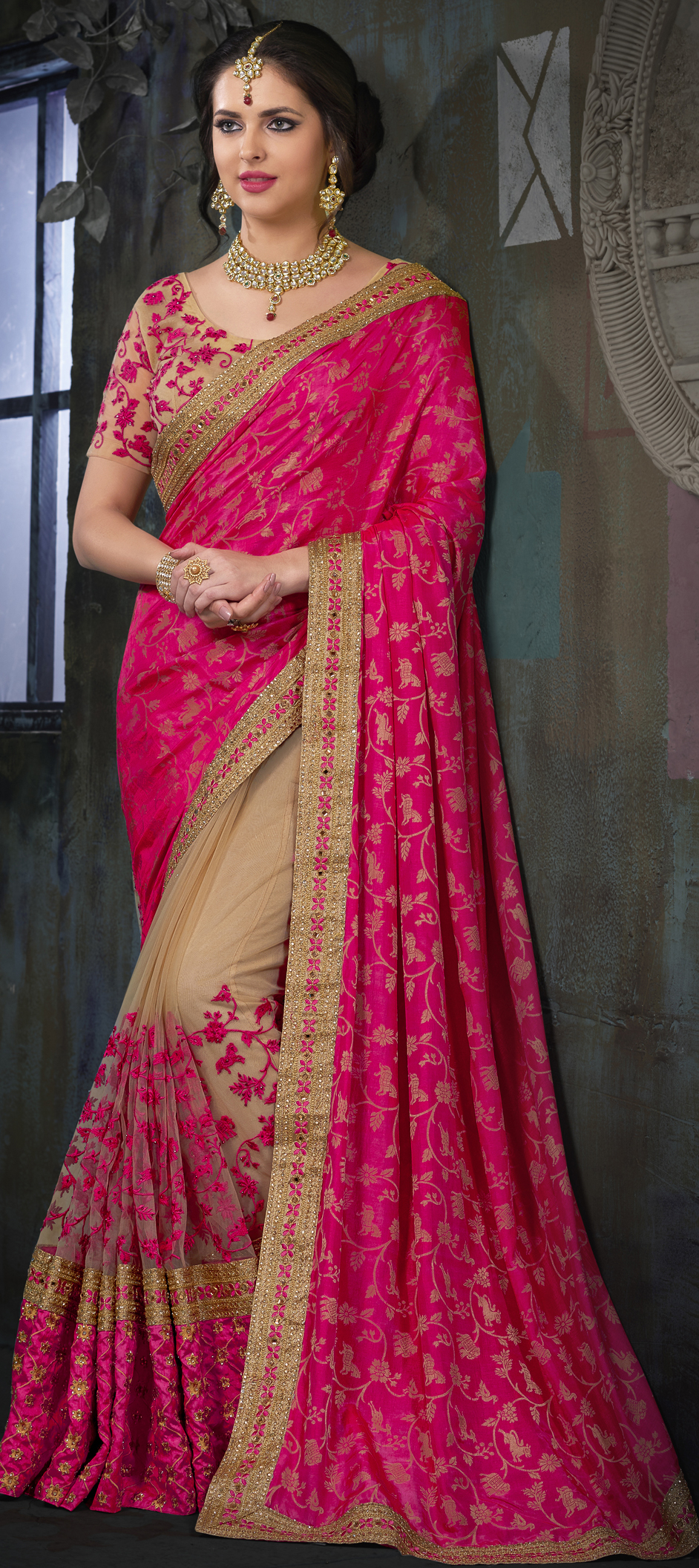 Latest Design Of Assam Type House: 738437: Beige And Brown, Pink And Majenta Color Family