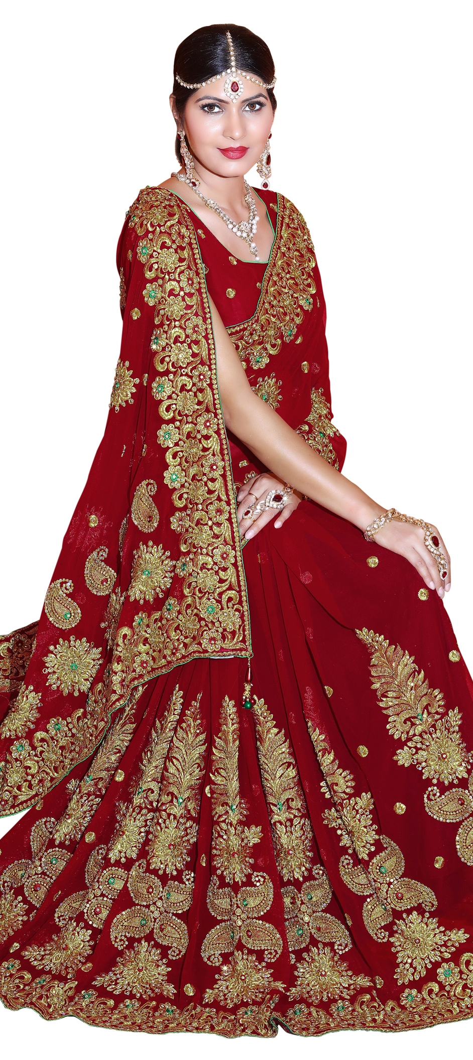 763750: Red and Maroon color family Embroidered Sarees, Party Wear ...