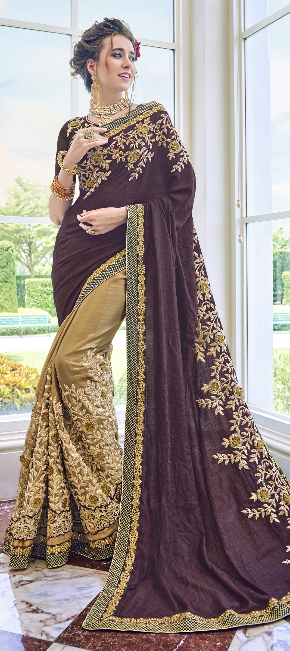 embroidery sarees for women