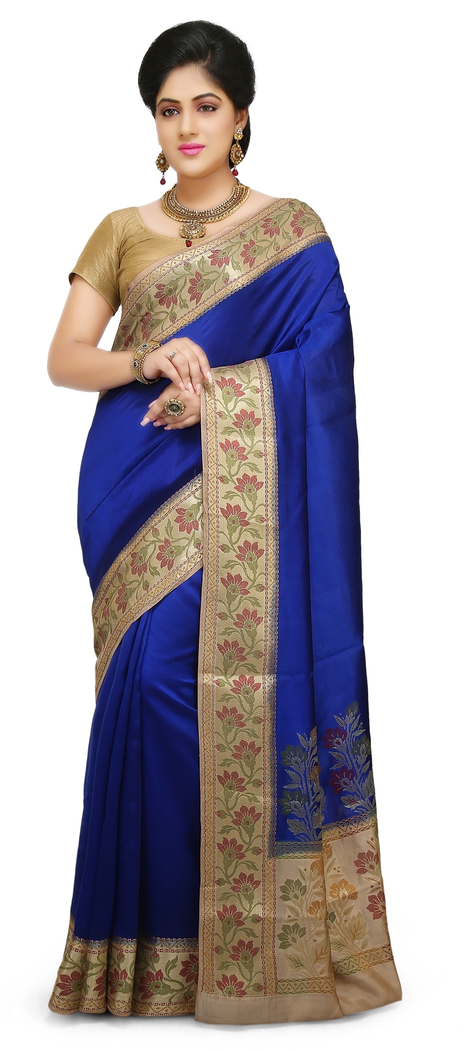 48d257c28e3 767137 blue color family party wear sarees with matching unstitched blouse