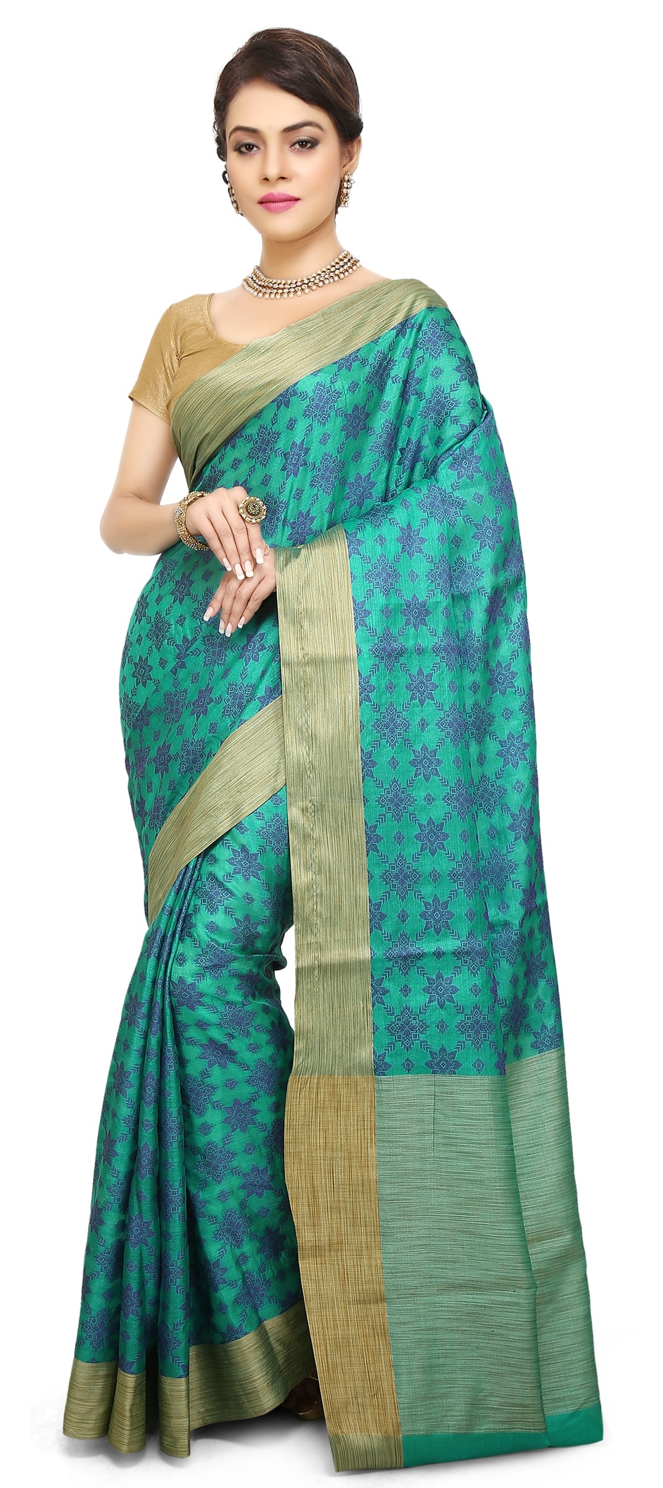 1b85d9bae8b 767186 blue color family party wear sarees with matching unstitched blouse