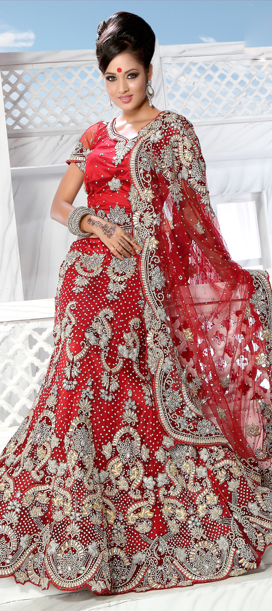 83349: Red and Maroon color family Bridal Lehenga,Wedding Lehnga .