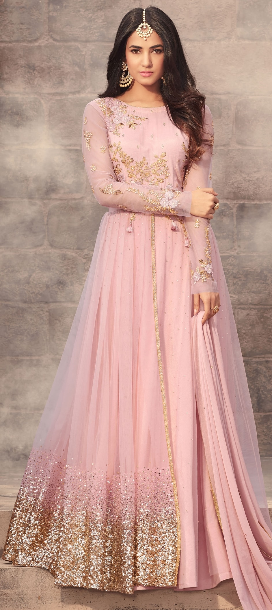906450: Pink and Majenta color family stitched Party Wear Salwar ...