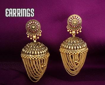 Gold rhodium polish earrings, Rhodium plated earrings