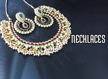 Rhodium Polished Long Necklace, Gold Silver Polish Necklace