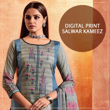 Digital Print Salwar Kameez